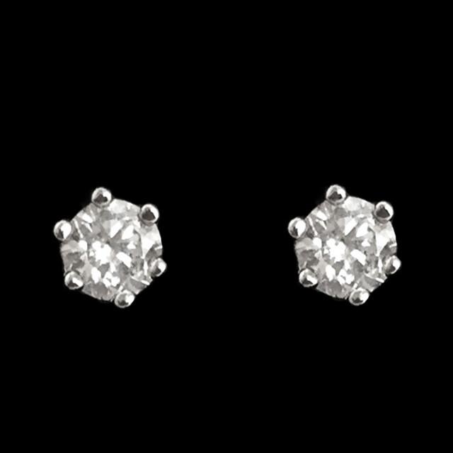 Серьги-пусеты - Искринка (Серебряные с белым камнем)