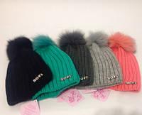 Красивая вязаная шапка Sofi h-120739