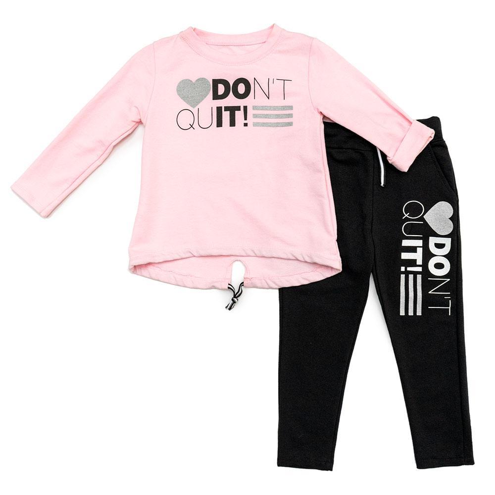 Костюм (брюки, бомбер) для девочек Angelina 116  розовый 1453