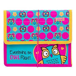 """Папка для зошитів 1Вересня пласт. на резинці В5 """"Owl"""""""