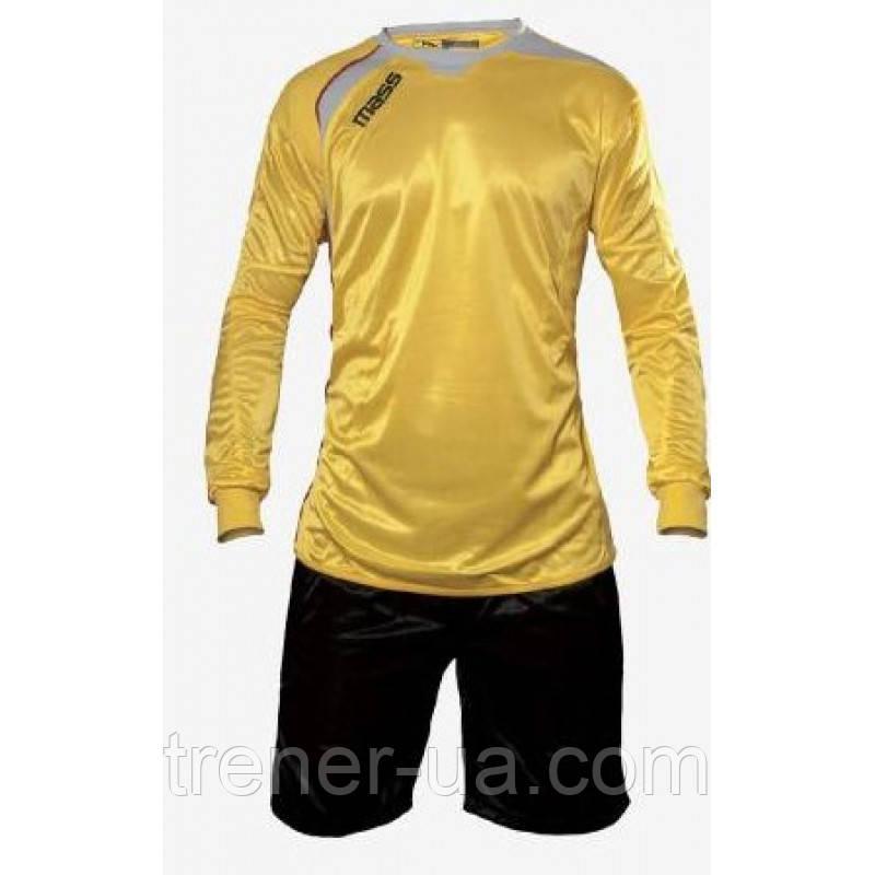 Вратарская форма взрослая/форма вратаря большой размер/форма вратаря с шортами желто-черный XL/форма голкипера