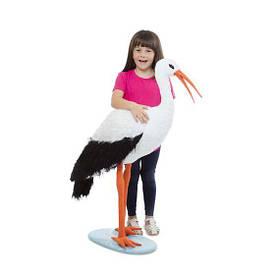 Гігантський плюшевий лелека 115 см м'яка іграшка Лелека ТМ Melіssa & Doug MD30407