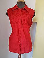 Красная рубашка без рукавов с красивой вставкой Solar, фото 1
