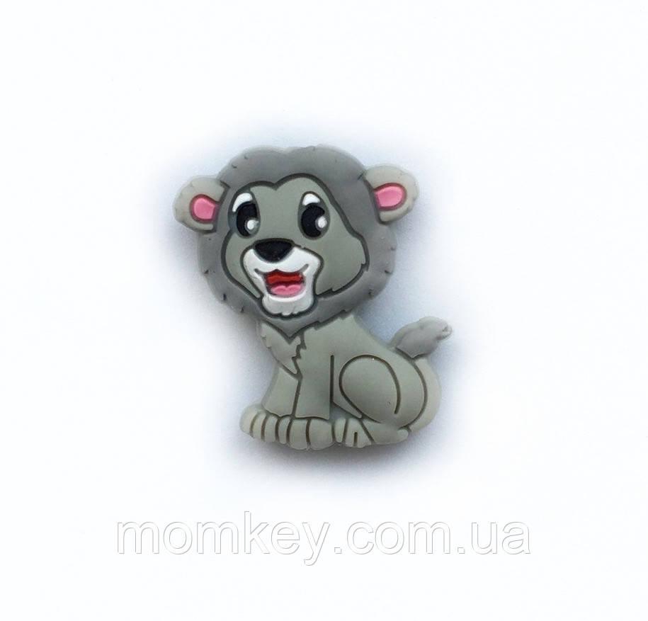Мини лев Симба (светло-серый)