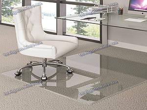 Ковер под кресло для защиты пола прозрачный 122х125см. Толщина 0,8мм