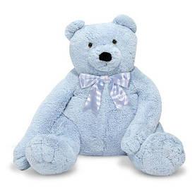 Большой плюшевый мишка 76 см голубой мягкая игрушка Blue Teddy Bear ТМ Melissa & Doug MD3983