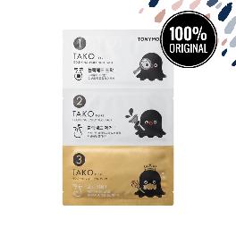 Набор пластырей для носа от черных точек TONY MOLY Tako Pore Gold King 3-Step Nose Pack