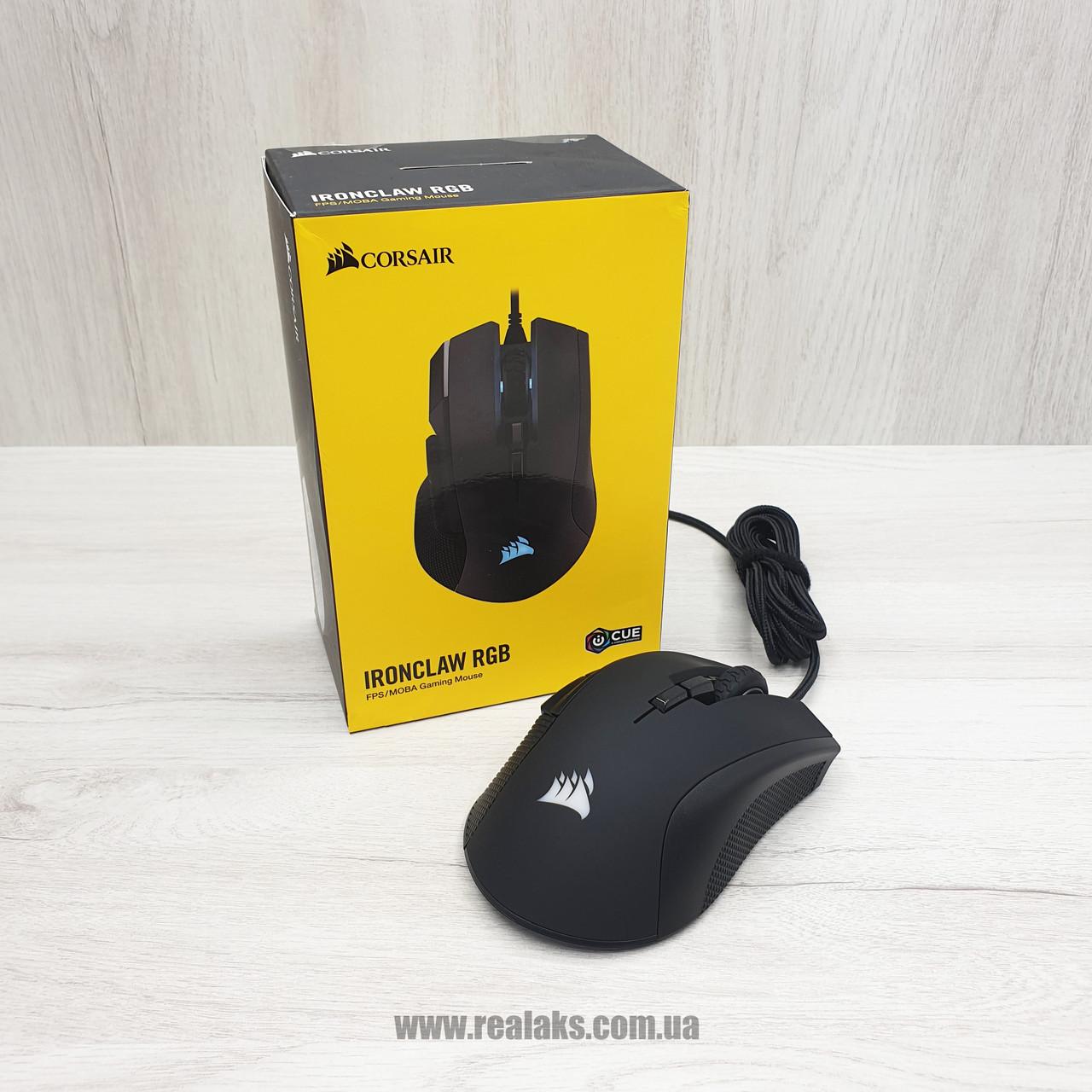 Мишка оптична провідна CORSAIR IRONCLAW (Black)