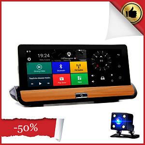 Автомобильный видеорегистратор DVR T9 на  Android с GPS навигатором и 3G, Bluetooth, зеркало заднего вида
