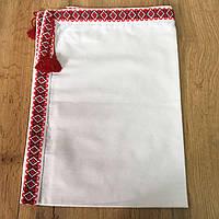 Крыжма на крестины  с красной вышивкой (100х70см), фото 1