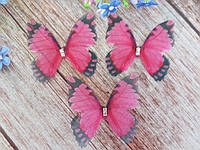 """Аплікація, """"Метелик шифонова"""", двошарова, колір на фото, 45х40 мм, 1 шт."""