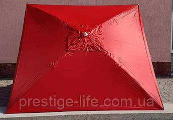 Пляжный, садовой, торговый Зонт 2х2 м, с клапаном. Серебренное покрытие. Красный