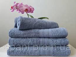 Махровое полотенце 50х90, 100% хлопок 420 гр/м2, Пакистан, Серо-голубой