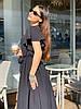 Стильное летне платье широкого кроя с воланами на плечах и пояском в комплекте, фото 5