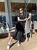 Стильное летне платье широкого кроя с воланами на плечах и пояском в комплекте, фото 2