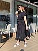 Стильное летне платье широкого кроя с воланами на плечах и пояском в комплекте, фото 7