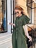 Стильное летне платье широкого кроя с воланами на плечах и пояском в комплекте, фото 10