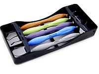 LM-Arte, LM-ErgoSense набор реставрационных гладилок с кассетой на 5 инструментов ,1 шт, LM Dental, Италия