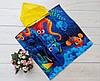 """Детское пляжное полотенце-пончо с капюшоном 60*60 см """"Подводный мир"""""""