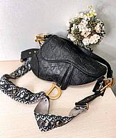 Женская сумка черная Di*r 11002 (реплика)