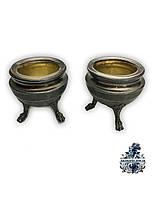 Серебряный набор для специй Серебряная  солонка столовое серебро антикварная мебель Антиквариат Украина Киев