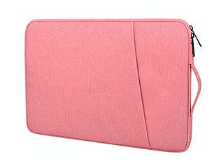 """Чехол для ноутбука 14"""" дюймов с ручкой Розовый"""