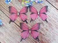 """Аплікація, """"Метелик шифонова"""", двошарова, колір на фото, 43х38 мм, 1 шт."""