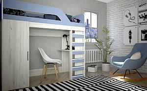 Детская кровать стол Нью-Йорк 2 Лион