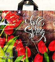 Пакет полиэтиленовый Петля тюльпан 37 х33 см / уп-25шт