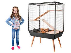 Клетка для кроликов, морских свинок, шиншилл, хорьков, трехэтажная 78 х 48 х 80 см