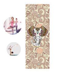Коврик для фитнеса и йоги Meileer rubb-22 Таинственный слон каремат 1830*680*4mm