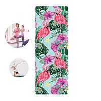 Коврик для фитнеса и йоги Meileer rubb-22 Фламинго каремат 1830*680*4mm