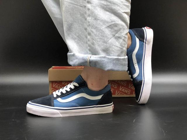 Кеды Vans Old Skool Blue White фото