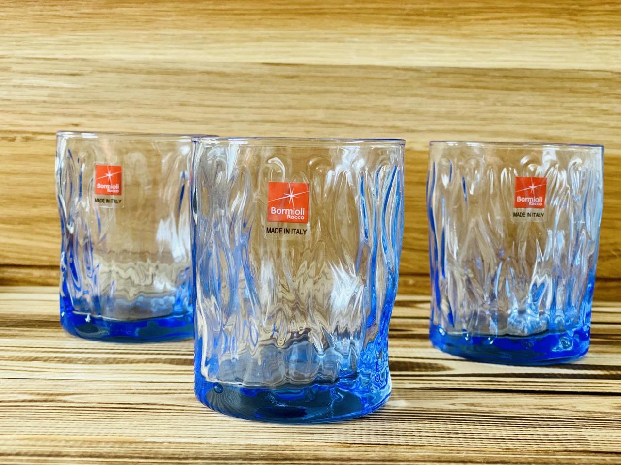 Набор низких стаканов 300 мл ,3 шт Wind Saphire Bormioli 580517