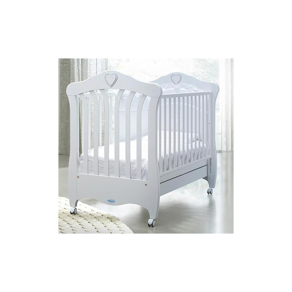 Ліжечко Baby Italia Emily White 131,5х84 білая/бук