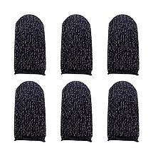 Напальчники для сенсорных экранов, комплект - 3 пары (черные), фото 3