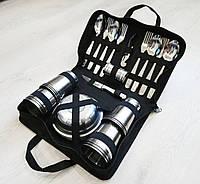 Туристическая посуда для пикника на 12 персон в сумке
