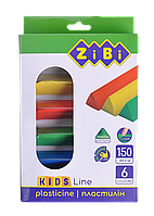 Пластилин ZiBi KIDS Line 6 цветов