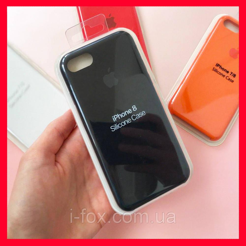Чехол накладка xCase для iPhone 7/8 Silicone Case Full black