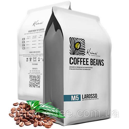 Кава Krimei M5 Larosso зерно 80% арабіка 750грамм