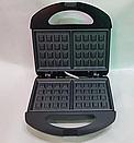 Электрическая вафельница с атипригарным покрытием Domotec MS 0505, фото 4