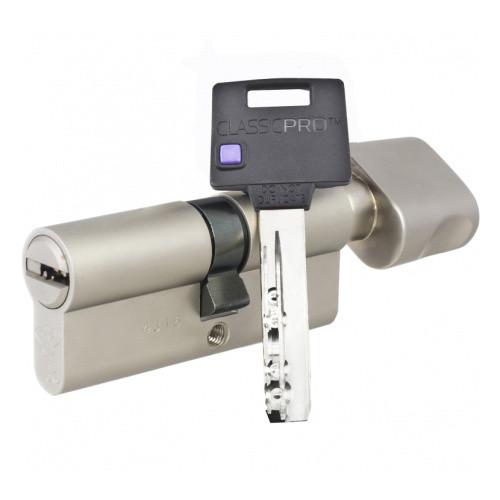 Цилиндр Mul-T-Lock Classic PRO ключ/поворотник никель 54 мм