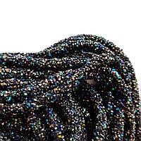 """Полый стразовый шнур Черный """"Хамелеон"""" 50 см, фото 1"""