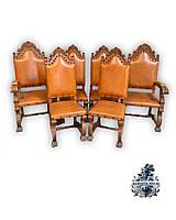 Антикварные кожаные кресла и Стулья кресло трон антикварная старинная мебель Антиквариат Украина Киев
