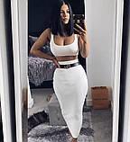 Женский костюм белый, фото 2
