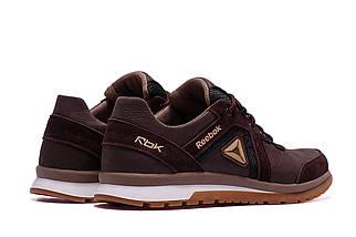 Мужские кожаные кроссовки Reebok SPRINT TR Brown/ ПК-R-04 кор, фото 3