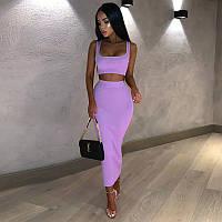 Женский костюм фиолетовый