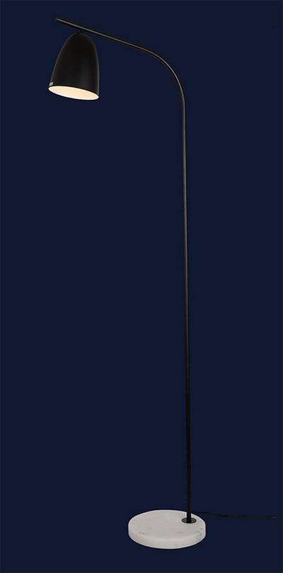 Строгий напольный светильник 720F10027-1 BK