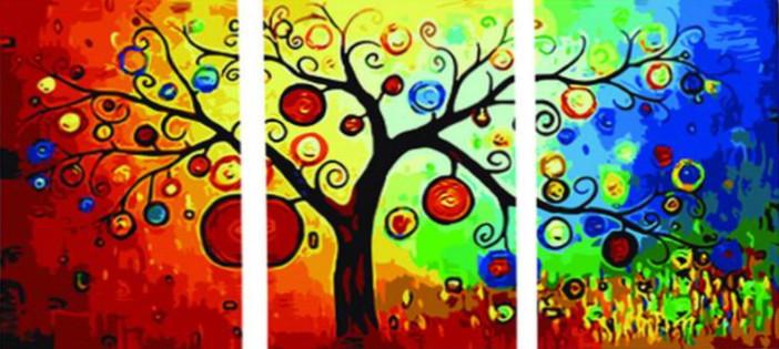 Картина за номерами Babylon Триптих. Грошове дерево (DZ3011) 50 х 150 см