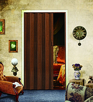 Двери гармошка глухие Дуб тёмный (раздвижные, межкомнатные, для душевых, кладовок)